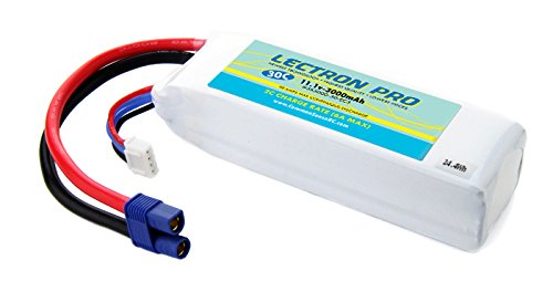 Lectron Pro 11.1 volt - 3000mAh 30C Upgrade Lipo with EC3 Connector for the Blade 350 QX (Eflite Blade 350 compare prices)