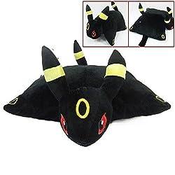 Pokemon UMBREON Transforming Plush Solf Pillow Pet Cushion Plush Doll Big 40CM