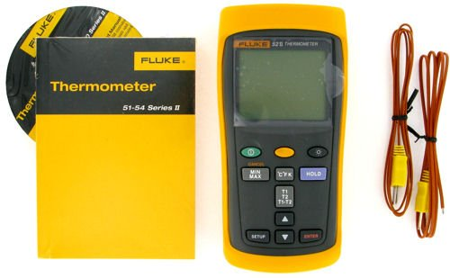 Fluke Digital Thermometer Fluke 52-2 Dual Input Digital