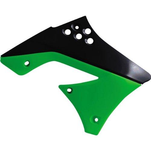 Acerbis 2141711043 Black/Green Radiator Shroud (Acerbis Radiator Shrouds Kx250f compare prices)