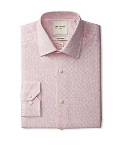 Ben Sherman Men's Micro Check Spread Collar Dress Shirt