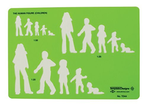 Alvin TD44 Children Human Figure Template