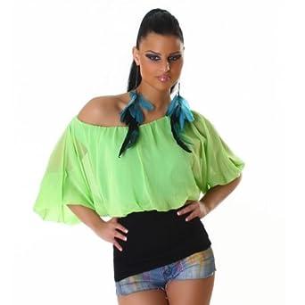 Silamoda - Femme - Top ample fashion, taille unique - Unique - Fushia