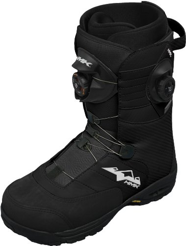 HMK Team Boa Focus Snowmobile Boots (Black, Size 11)