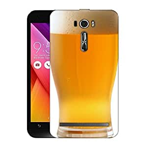 Snoogg Cold Beer Designer Protective Back Case Cover For ASUS ZENFONE 2 LASER ZE601KL