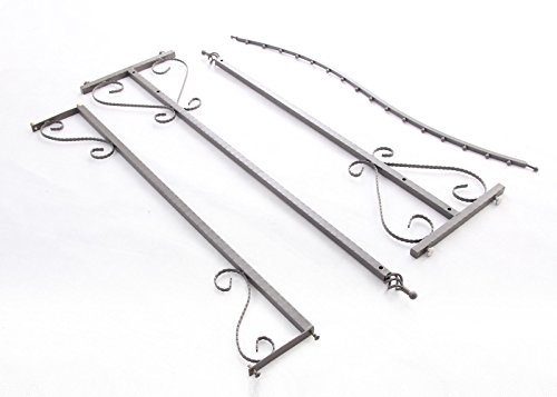 Free Standing Decorative Antique Grey Iron Garment Coat Rack (Y0021) 5