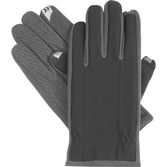 Isotoner Men's Smartouch Fleece Lined Glove,Black,Medium