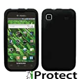 "ORIGINAL IPROTECT Samsung i9000 Galaxy S Schutzh�lle - Silikon Tasche Galaxy S Etui - Handytasche SKIN Silikon H�lle i 9000 schwarz plus Gratis Displayschutzfolie MADE IN GERMANYvon ""iprotect"""