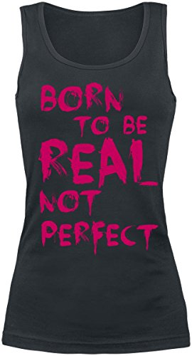 Born To Be Real Not Perfect Top donna nero XL