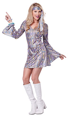 California Costumes Women's Disco Sensation 70's Dance Costume, Purple, Large