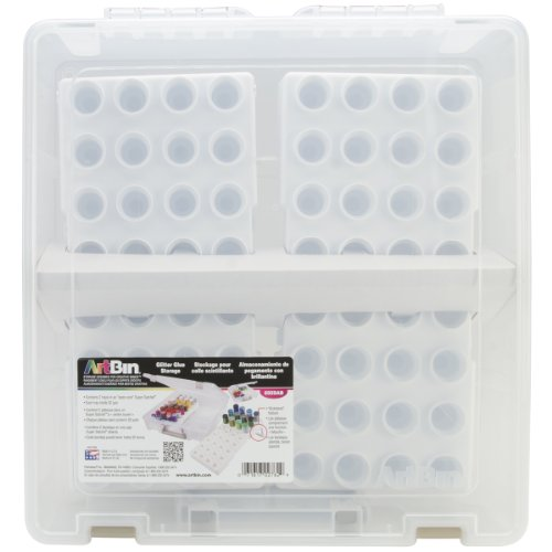 ArtBin Satchel Bottle Storage Container with 2 Trays- Clear/White, 6959AB (Glitter Icing compare prices)