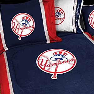 Boys Queen Bedding Buy MLB New York NY Yankees 5pc BOYS BED IN A BAG Que