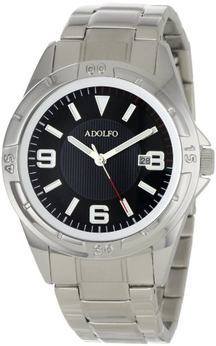 ADOLFO Men's 31027C Round Calendar Rotating Bezel Watch