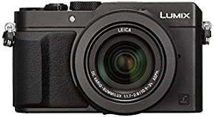 Panasonic Lumix DMC-LX100 Digital Camera, 12.8MP, 3.0-Inch Display, 24-75mm Leica DC Vario-Summilux f/1.7-2.8 Lens, 4K Ultra HD Video, HDMI/USB, Wi-Fi, NFC (Black) - International Version