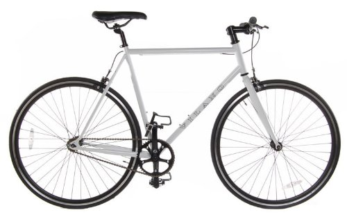 Fixed Gear Single Speed Track Bike, White, 58cm