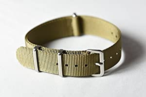 NATO G10 Nylon Fabric Canvas Premium Quality Watch Band Strap - 22mm / Military Green - (Military Army J. Crew Timex Weekender Daniel Wellington)