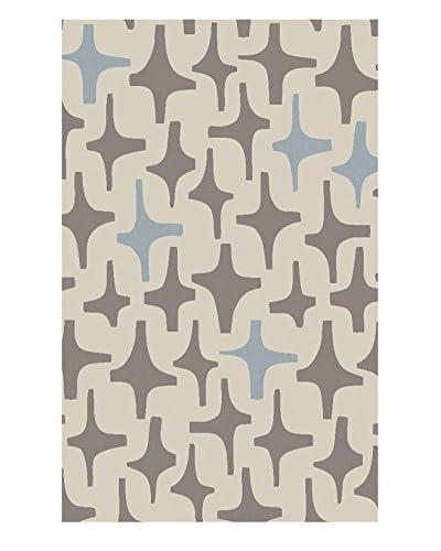 Surya Textila Rug, Neutral/Blue, 5' x 8'