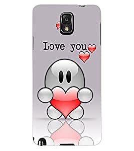 ColourCraft Love Design Back Case Cover for SAMSUNG GALAXY NOTE 3