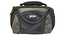 Canon VIXIA HF R62 Camcorder Case Camcorder and Digital Camera Case - Carry Handle & Adjustable Shoulder Strap - Black / Grey - Replacement by Synergy