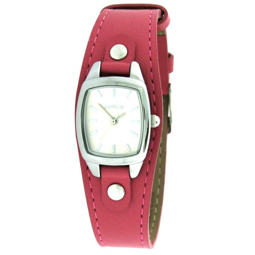 Lorus by Seiko Ladies Pink Leather Strap Watch LR2037