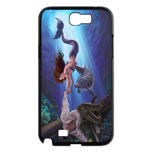 Samsung Galaxy Note 2 N7100 Mermaid Phone Back Case Personalized Art Print Design Hard Shell Protection Aq066166