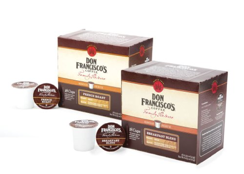 Don Francisco Family Reserve Single Serve Coffee, Dark Roast Variety Pack,36 Count