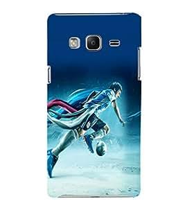 printtech Football Running Game Player Back Case Cover for Samsung Z3 :: :Samsung Z300H/DD