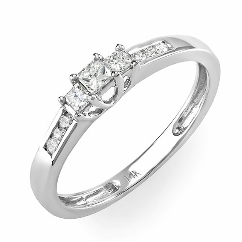 0.33 Carat (ctw) 14k White Gold Brilliant Round