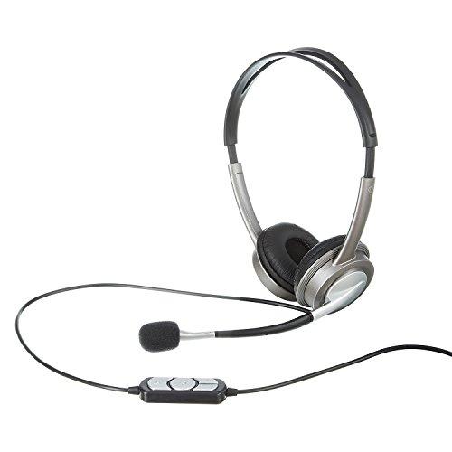 Headset USB Anschluss für PC Computer Laptop Kopfhörer Mikrofon Telefonieren VOIP Skype Gaming