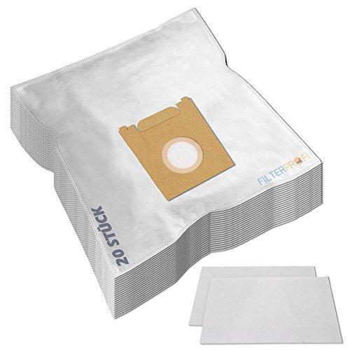 SPARPAKET 20 Staubsaugerbeutel / Staubbeutel / Filtertüten geeignet für Siemens VS06G1800 Synchropower