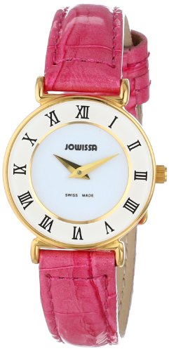Jowissa Women's J2.101.S Roma Colori Gold PVD White Dial Roman Numeral Pink Watch