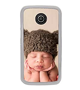 Cute Kid with Brown Cap 2D Hard Polycarbonate Designer Back Case Cover for Motorola Moto E (1st Gen) :: Motorola Moto E XT1021 :: Motorola Moto E Dual SIM :: Motorola Moto E Dual SIM XT1022 :: Motorola Moto E Dual TV XT1025