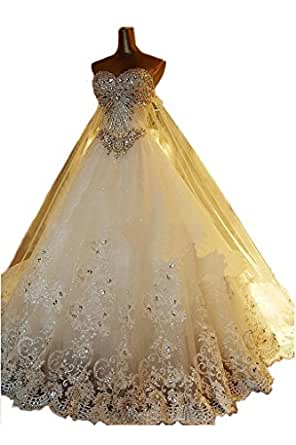 MILANO BRIDE Luxury Wedding Dress For Bride Strapless Ball Gown Applique At A