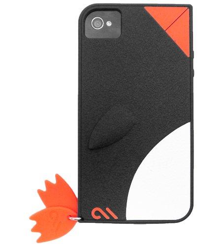 Case-Mate iPhone 4S / 4 CREATURES: Waddler Case, Black クリーチャーズ ワドラー ペンギン シリコン ケース, ブラック CM015590