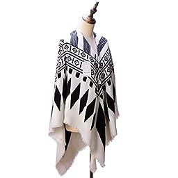 Women\'s Cozy Tartan Scarf Wrap Shawl Neck Stole Warm Plaid Checked Pashmina