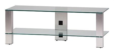 Sonorous-Mobile TV pl3410 C-INX in vetro trasparente e acciaio Inox