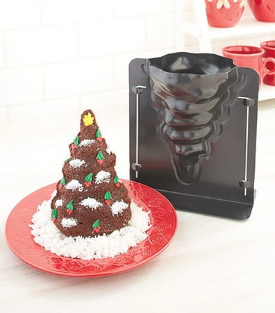 3-D Christmas Tree Cake Mold 8 X 5 1/2 (Tree Cake Pan compare prices)