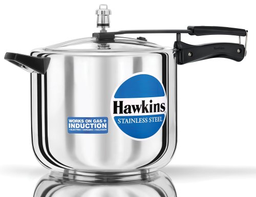 Hawkins D40 Stainless Steel Pressure Cooker, 10.0-Litre