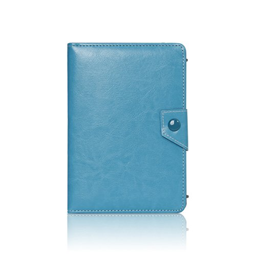 Kingslong Book Cover Case With Viewing Stand For Apple Ipad Mini - Baby Blue front-1019345