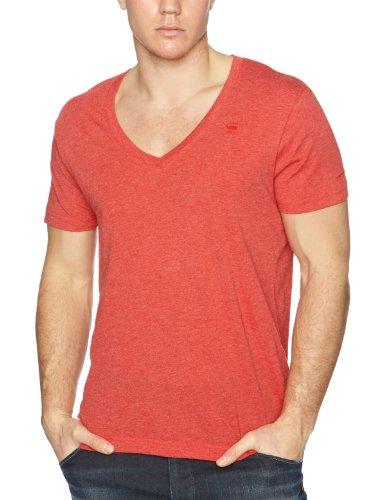 G-Star Base Htr V-Neck 2 Pack Men's T-Shirt Oil Red XLarge