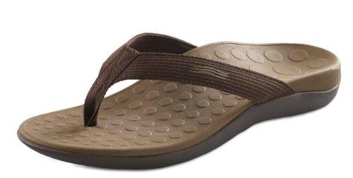 Orthaheel Unisex Wave 2 Thong Unisex Chocolate Sandals Men's 5, Women's 6 M