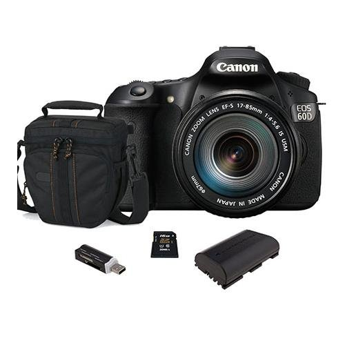 Canon Eos 60D Dslr Camera Body Kit, Black With Ef-S 18-200Mm F/3.5-5.6 Is Lens - U.S.A. Warranty - Bundle - With 2 4Gb Sdhc Memory Cards (Total Of 8Gb), Camera Bag, Spare Lp E6 Lithium-Ion Battery, Usb 2.0 Sd Card Reader