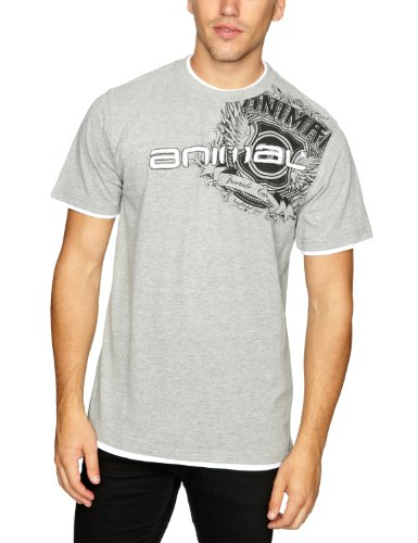 Animal Bossall Logo Men's T-Shirt Grey Marl XX Large CL2WA012-103-2XL