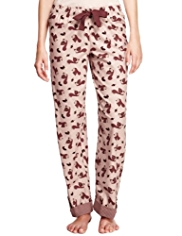 Limited Collection Pure Cotton Squirrel Print Pyjama Bottoms