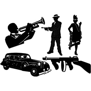 """Gangster Silhouettes 20"""" Gangster themed Birthday Party Celebrations Accessories Decorations etc..."""