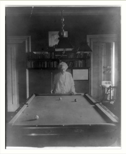 Cheap Historic Print (L): [Samuel Clemens, half-length portrait, standing at end of pool table] (B003HXG402)
