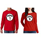 WOMEN 5400L long sleeve THING 1 Dr Seuss Halloween T-Shirt 3XL Red