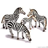 Schleich Zebra Family Set - 4 Figures: Male, Female, and More