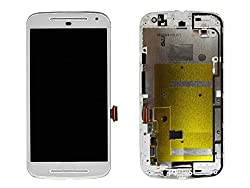 Online For Good(TM) Full LCD Touch Digitizer Screen Replacement for Motorola MOTO G2 XT1063 XT1068 XT1069 Second generation- White