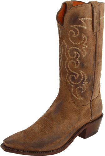 Lucchese Classics Men's Nv1503 Boot,Olive Burnished Wax Comanche,9 EE US